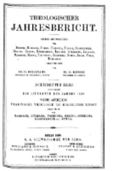 Theologischer Jahresbericht, 1898, Abteilung 4.
