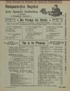 Antiquarisches Angebot von Justus Naumann's Buchhandlung in Dresden [ulotka]