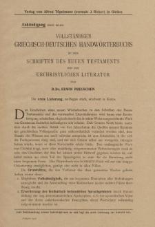 Verlag von Alfred Töpelmann (vormals J. Ricker) in Gießen [ulotka]