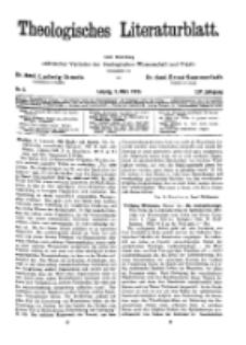 Theologisches Literaturblatt, 3. März 1933, Nr 5.