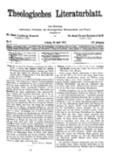 Theologisches Literaturblatt, 28. April 1933, Nr 9.