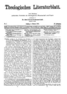 Theologisches Literaturblatt, 2. Februar 1934, Nr 3.