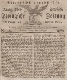 Elbingsche Zeitung, No. 48 Montag, 15 Juni 1829