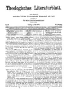 Theologisches Literaturblatt, 11. Mai 1934, Nr 10.