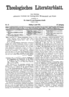 Theologisches Literaturblatt, 8. Juni 1934, Nr 12.