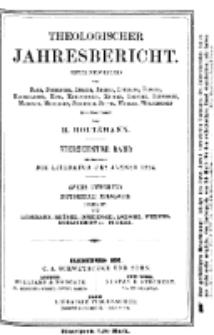 Theologischer Jahresbericht, 1894, Abteilung 2.