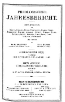 Theologischer Jahresbericht, 1897, Abteilung 3.