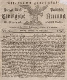 Elbingsche Zeitung, No. 50 Montag, 22 Juni 1829