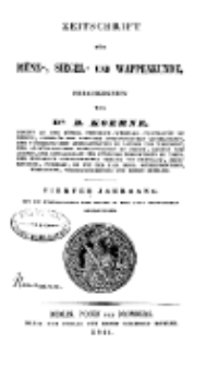 Zeitschrift für Münz-, Siegel- und Wappenkunde, 1844
