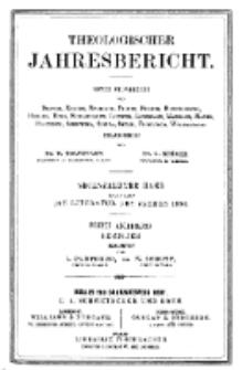 Theologischer Jahresbericht, 1896, Abteilung 5.
