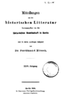 Mittheilungen aus der historischen Litteratur, 26. Jg. 1898, H. 1.