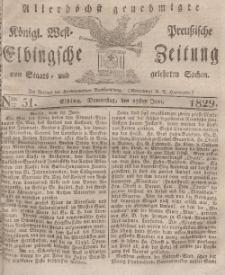 Elbingsche Zeitung, No. 51 Donnerstag, 25 Juni 1829