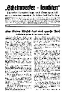 """""""Scheinwerfer-Leuchten""""...Am Heiligen Quell Deutscher Kraft, 20. Mai 1938, Folge 4."""