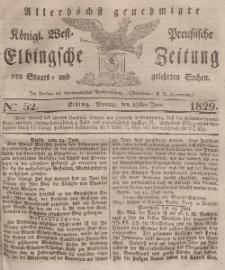 Elbingsche Zeitung, No. 52 Montag, 29 Juni 1829