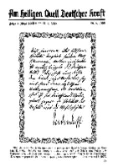 Am Heiligen Quell Deutscher Kraft, 20. Juni 1938, Folge 6.