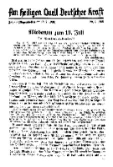 Am Heiligen Quell Deutscher Kraft, 20. Juli 1938, Folge 8.