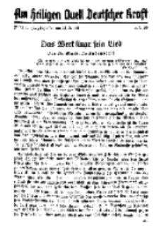 Am Heiligen Quell Deutscher Kraft, 5. September 1938, Folge 11.