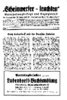 """""""Scheinwerfer-Leuchten""""...Am Heiligen Quell Deutscher Kraft, 5. September 1938, Folge 11."""