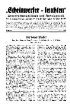 """""""Scheinwerfer-Leuchten""""...Am Heiligen Quell Deutscher Kraft, 5. Oktober 1938, Folge 13."""