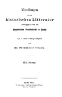 Mittheilungen aus der historischen Litteratur, 29. Jg. 1901, H. 1.