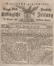 Elbingsche Zeitung, No. 55 Donnerstag, 9 Juli 1829