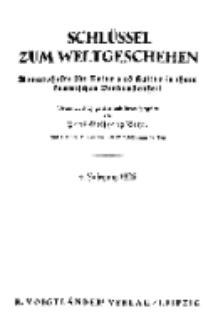 Der Schlüssel zum Weltgeschehen : Monatsschrift für reine und angewandte Welteiskunde, Jg.4. 1928, H. 1.