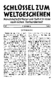Der Schlüssel zum Weltgeschehen : Monatsschrift für reine und angewandte Welteiskunde, Jg.4. 1928, H. 6.
