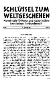 Der Schlüssel zum Weltgeschehen : Monatsschrift für reine und angewandte Welteiskunde, Jg.4. 1928, H. 7.