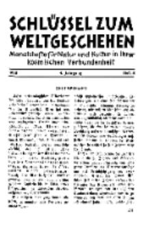 Der Schlüssel zum Weltgeschehen : Monatsschrift für reine und angewandte Welteiskunde, Jg.4. 1928, H. 8.