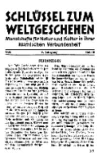 Der Schlüssel zum Weltgeschehen : Monatsschrift für reine und angewandte Welteiskunde, Jg.4. 1928, H. 10.