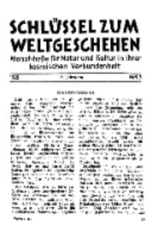 Der Schlüssel zum Weltgeschehen : Monatsschrift für reine und angewandte Welteiskunde, Jg.5. 1929, H. 3.