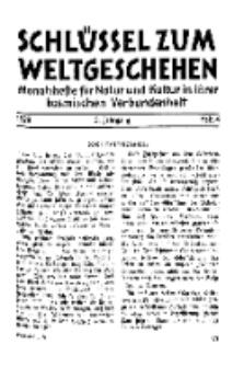 Der Schlüssel zum Weltgeschehen : Monatsschrift für reine und angewandte Welteiskunde, Jg.5. 1929, H. 4.