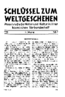 Der Schlüssel zum Weltgeschehen : Monatsschrift für reine und angewandte Welteiskunde, Jg.5. 1929, H. 7.