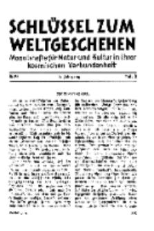 Der Schlüssel zum Weltgeschehen : Monatsschrift für reine und angewandte Welteiskunde, Jg.5. 1929, H. 8.