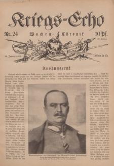 Kriegs-Echo: Wochen=Chronic, 22. Januar 1915, Nr 24.