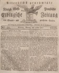 Elbingsche Zeitung, No. 58 Montag, 20 Juli 1829