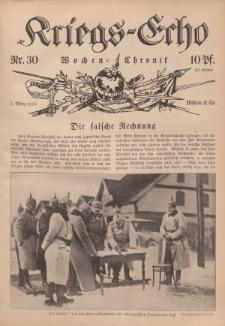 Kriegs-Echo: Wochen=Chronic, 5. März 1915, Nr 30.