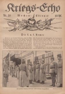 Kriegs-Echo: Wochen=Chronic, 30. April 1915, Nr 38.