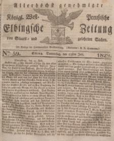 Elbingsche Zeitung, No. 59 Donnerstag, 23 Juli 1829