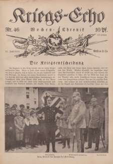 Kriegs-Echo: Wochen=Chronic, 25. Juni 1915, Nr 46.