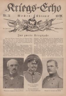 Kriegs-Echo: Wochen=Chronic, 30. Juli 1915, Nr 51.