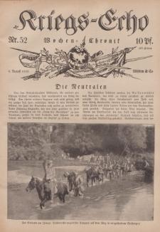 Kriegs-Echo: Wochen=Chronic, 6. August 1915, Nr 52.