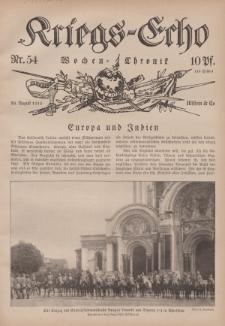Kriegs-Echo: Wochen=Chronic, 20. August 1915, Nr 54.