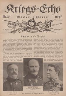 Kriegs-Echo: Wochen=Chronic, 27. August 1915, Nr 55.