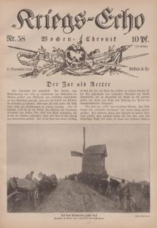 Kriegs-Echo: Wochen=Chronic, 17. September 1915, Nr 58.