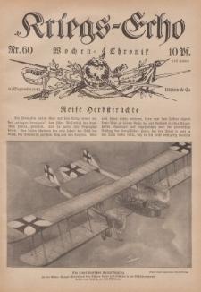 Kriegs-Echo: Wochen=Chronic, 30. September 1915, Nr 60.