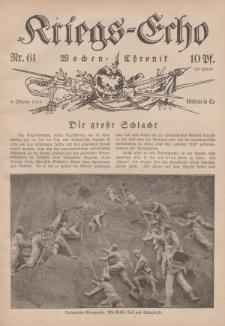 Kriegs-Echo: Wochen=Chronic, 8. Oktober 1915, Nr 61.