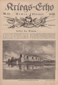 Kriegs-Echo: Wochen=Chronic, 15. Oktober 1915, Nr 62.