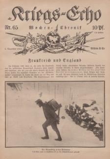 Kriegs-Echo: Wochen=Chronic, 5. November 1915, Nr 65.