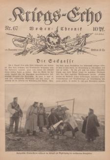 Kriegs-Echo: Wochen=Chronic, 19. November 1915, Nr 67.